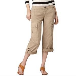 Tory Burch Cropped Cargo Pants